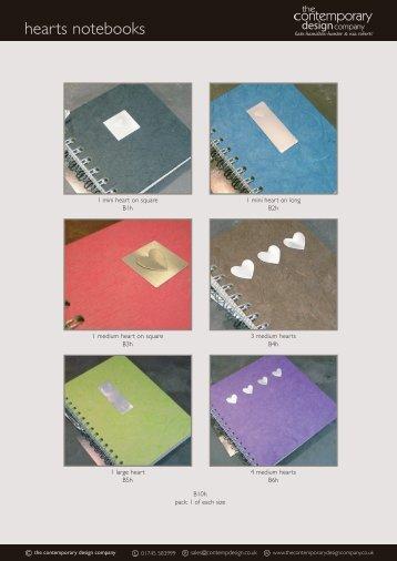 hearts notebooks
