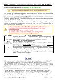 Types de situations pédagogiques STE - ChloroFil
