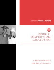 annual report - Indian Hill School District