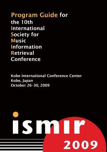 PDF copy of the Program Guide - ISMIR 2009