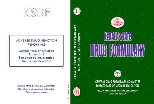 Kerala State Drug Formulary pdf
