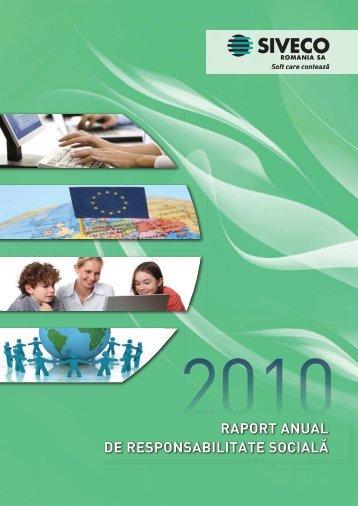 raport anual de responsabilitate socială - SIVECO Romania