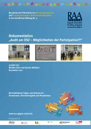 """Dokumentation """"Audit am OSZ – Möglichkeiten der Partizipation?!"""""""