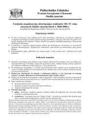 Szanowna/y studentko/cie - Wydział Zarządzania i Ekonomii