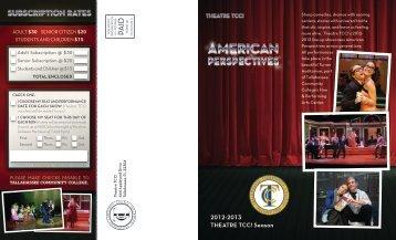 2012-2013 TheaTre TCC! Season - Tallahassee Community College