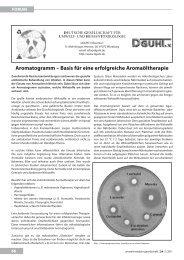 aromatogramm – basis für eine erfolgreiche ... - UMG-Verlag