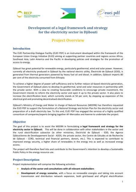 Project Information Note (pdf, 0 3 MB, EN) - EUEI