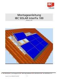 Montageanleitung IBC SOLAR InterFix 100