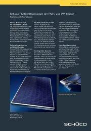 Schüco Photovoltaikmodule der PM-5 und PM-6 Serie