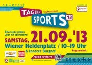 Wiener Heldenplatz / 10–19 Uhr - Tag des Sports 2013