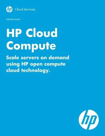 HP Cloud Compute
