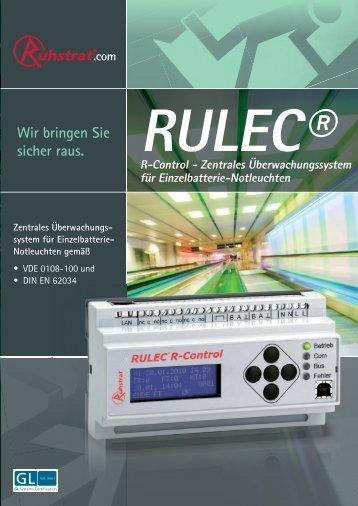 Prospekt Rulec® R-Control - Ruhstrat GmbH
