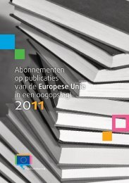 Abonnementen op publicaties van de Europese Unie in ... - Europa