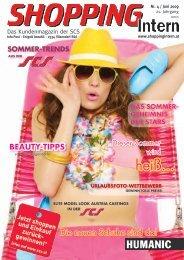 Das Kundenmagazin der SCS - Shopping-Intern