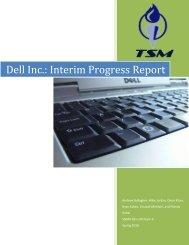 Dell Inc.: Interim Progress Report - University of Calgary Wiki