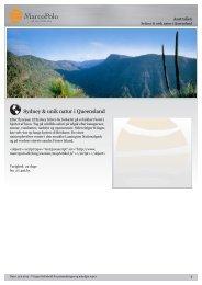 Sydney og verdens naturarv i Queensland - MarcoPolo