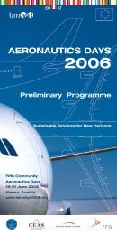 Preliminary Programme - Aeronautics Days 2006