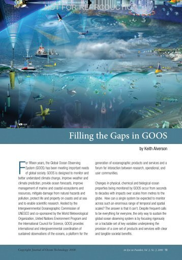 Filling the Gaps in GOOS - Fisheries and Marine Institute