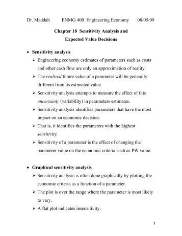 Printables Expected Value Worksheet expected value worksheet values lesson by math 141 lecture 5 sensitivity analysis and decisions chapter 18