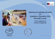 Matching Knowledge and Skills for QIS Neonatal nurses - a core syllabus for cllinical competency