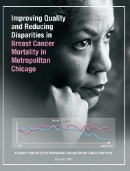 Improving Quality and Reducing Disparities in Breast Cancer