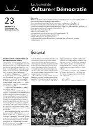 Journal 23 - Culture & Démocratie