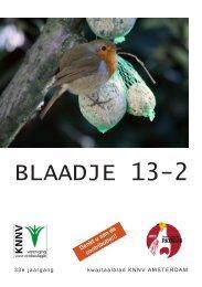Blaadje 2013/2 - KNNV Vereniging voor Veldbiologie