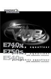 p r e a m p e q u a l i z e r parametric equalizer ... - Parts Express