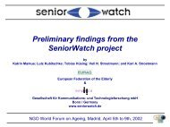 Preliminary Findings from the SeniorWatch Project