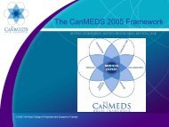 The CanMEDS 2005 Framework - Department of Medical Imaging