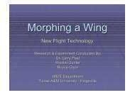 Morphing a Wing - Texas A&M University-Kingsville