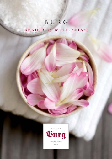 Download a brochure with all beauty and wellness - Burg Hotel ...