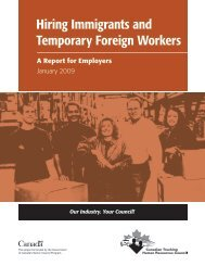 Hiring Immigrants and Temporary Foreign Workers - Canadian ...