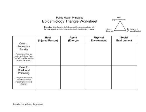 Epi Triangle Practice Problem And Worksheet Pdf
