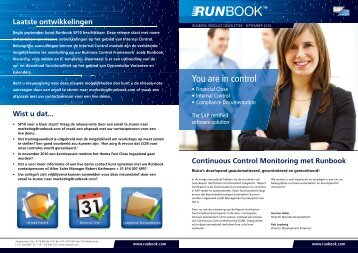 You are in control - Runbook.com