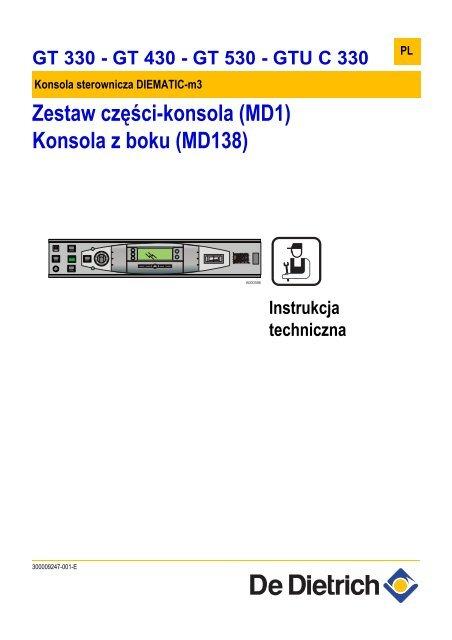 Instrukcja Techniczna Diematic M 3 Dla Gt 330 430 530 De