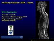 Anatomy Rotation: MSK – Spine - Department of Medical Imaging
