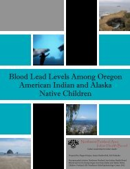 Blood Lead Levels Among Oregon American Indian and Alaska ...