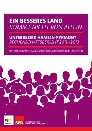 Rechenschaftsbericht 2011-2013 - SPD Hameln-Pyrmont