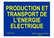 Production et transport de l'énergie