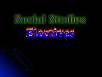 Social Studies Electives Powerpoint