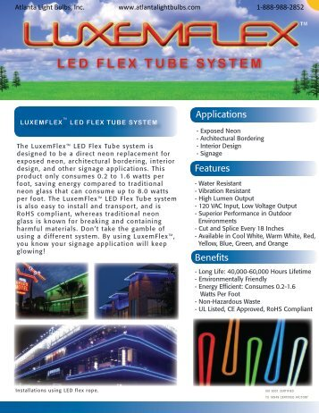 LED FLEX TUBE SYSTEM - Atlanta Light Bulbs