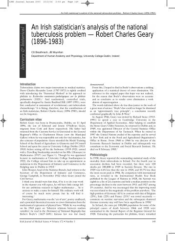Robert Charles Geary - IJMS | Irish Journal of Medical Sciences