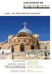 """Israel - """"das offene Buch der Geschichte"""