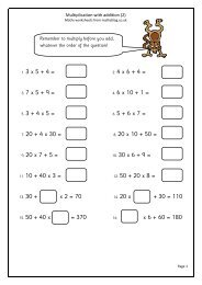 1. 3 x 5 + 4 = 2. 4 x 6 + 4 = 3. 7 x 5 + 9 = 4. 6 x 10 + 1 ... - Maths Blog