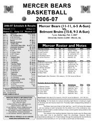 Game Notes - Belmont II 06-07.qxp - Mercer University