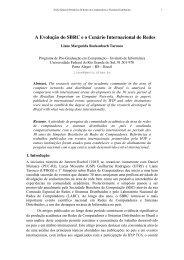 A Evolução do SBRC e o Cenário Internacional de Redes - UFMG