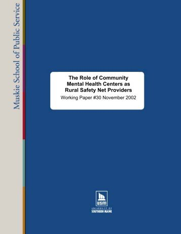 The Role of Community Mental Health Centers as - Northwest ...