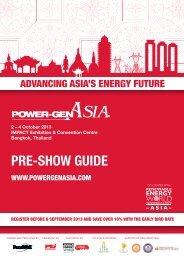PRE-SHOW GUIDE - POWER-GEN Asia