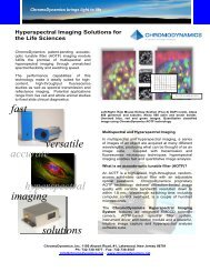 fast imaging accurate hyperspectral solutions ... - Instrumentation